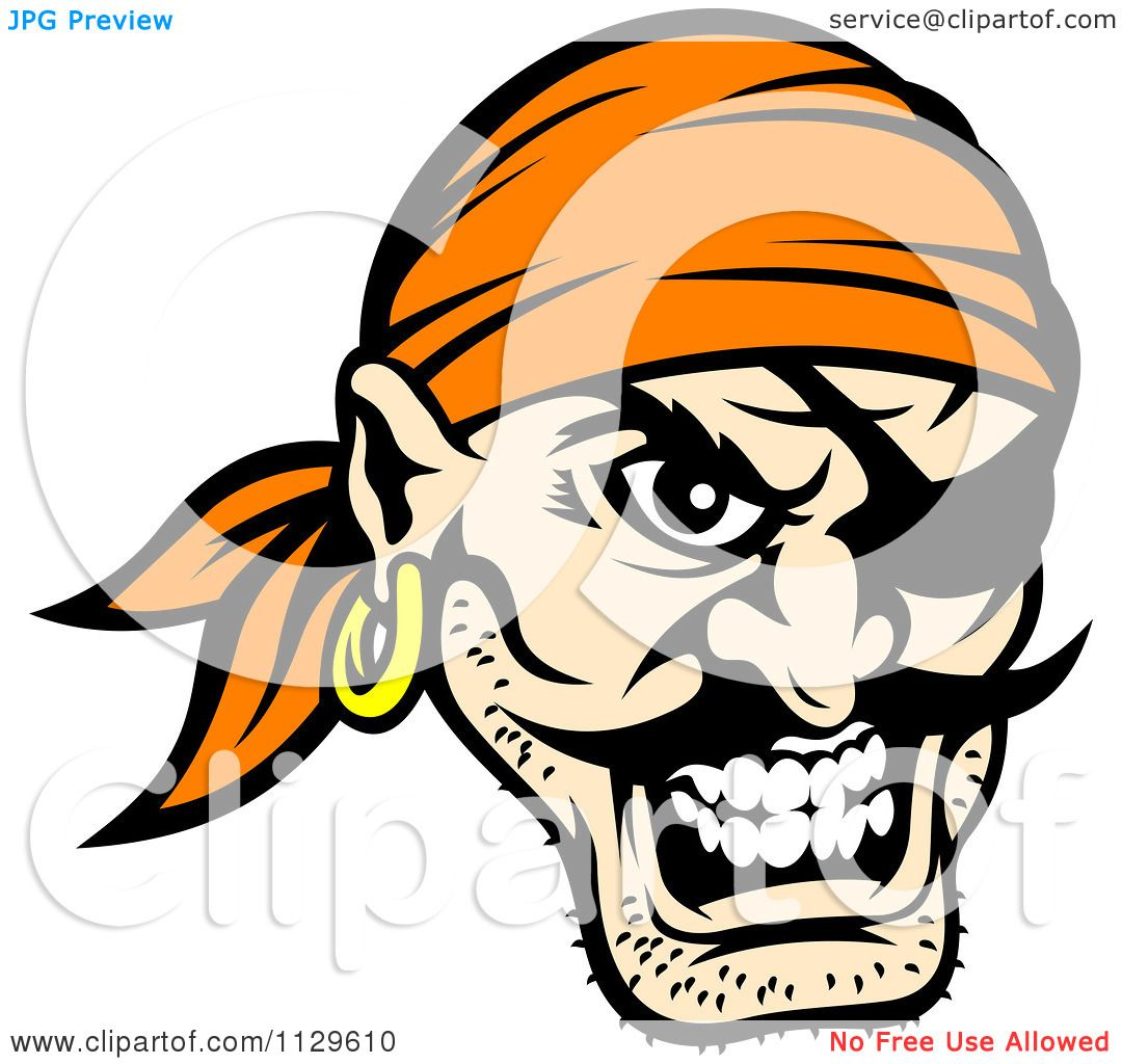 Pirate face vector