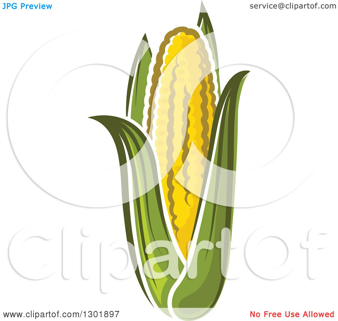 clipart of an ear of corn royalty free vector. Black Bedroom Furniture Sets. Home Design Ideas