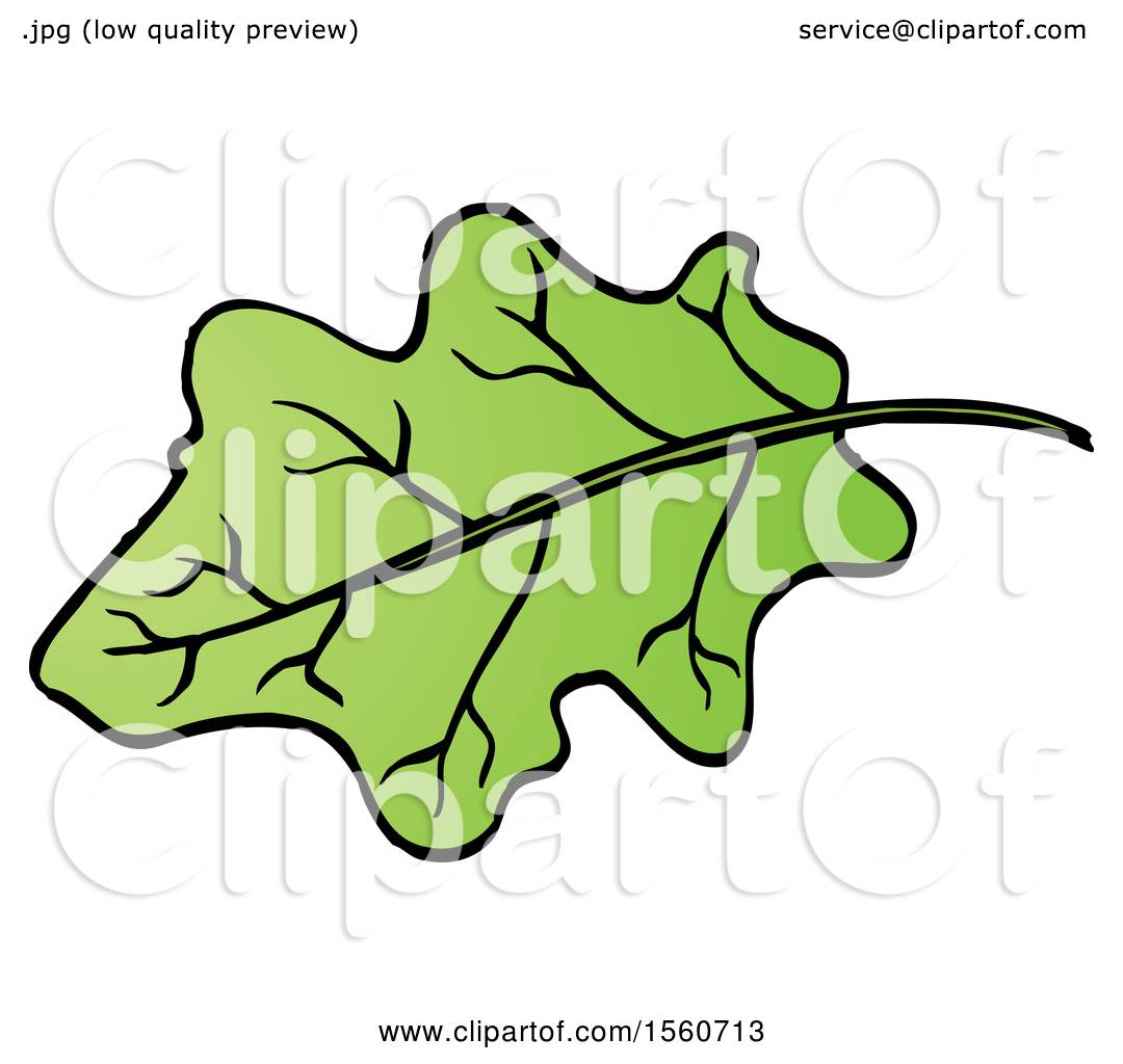 Clipart Of An Eggplant Leaf Royalty Free Vector Illustration By