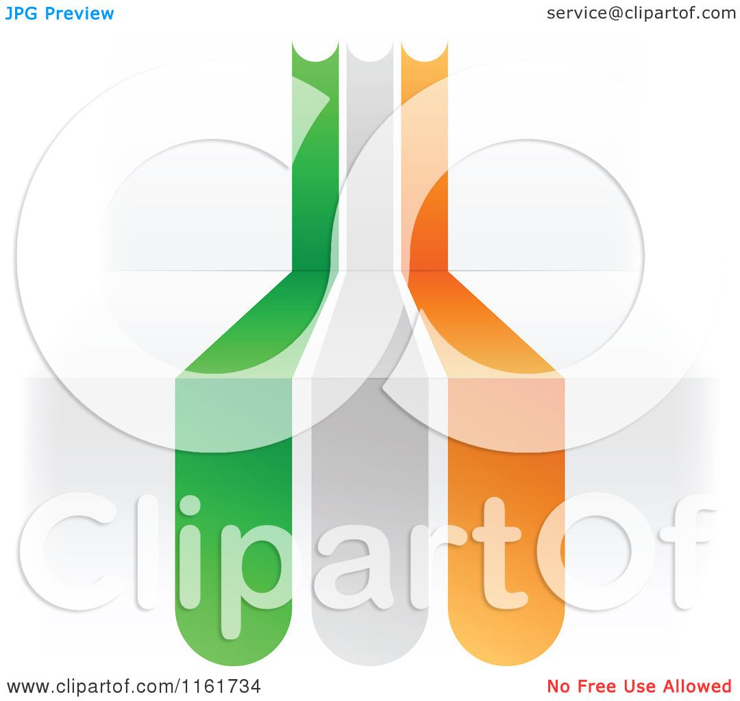 clipart of an ireland flag over 3d steps royalty free vector