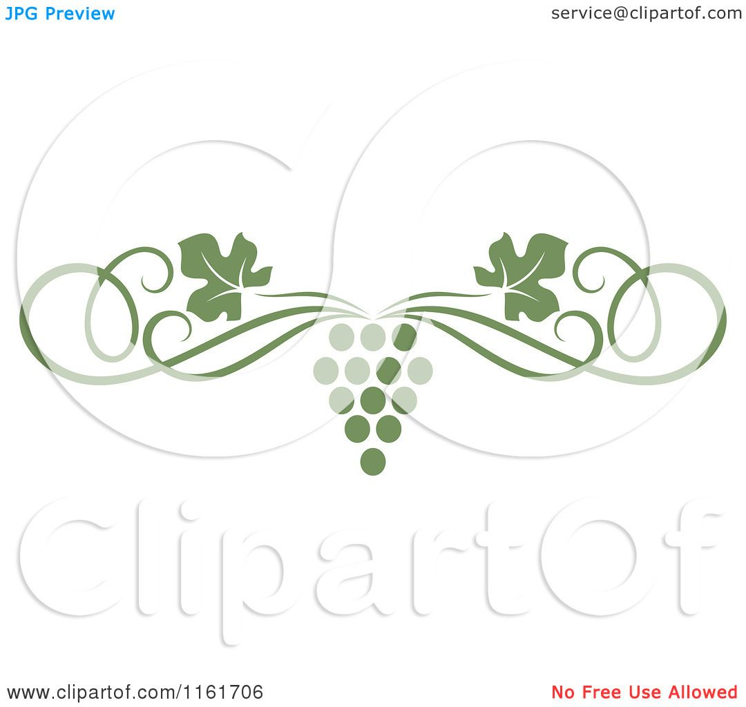 Vineyard Grapes Clipart Clipart of an olive green