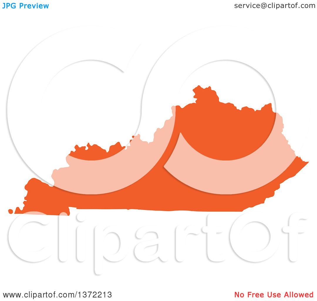 Clipart of an Orange Silhouetted Map Shape of the State of Kentucky on washington map clip art, arizona map clip art, wisconsin map clip art, arkansas map clip art, north carolina map clip art, illinois map clip art, mississippi map clip art, maryland map clip art, michigan map clip art, alabama map clip art, iowa map clip art, united states map clip art, colorado map clip art, memphis map clip art, nebraska map clip art, kansas map clip art, mn map clip art, tennessee map clip art, utah map clip art, california map clip art,