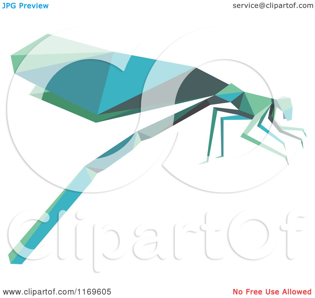 Clipart of an Origami Dragonfly - Royalty Free Vector Illustration ...