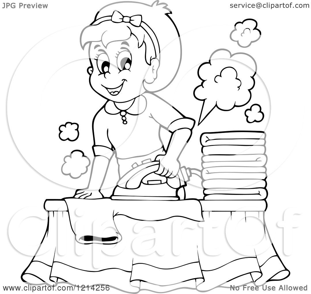 Cartoon Clothes Iron ~ Iron clothes colouring pages