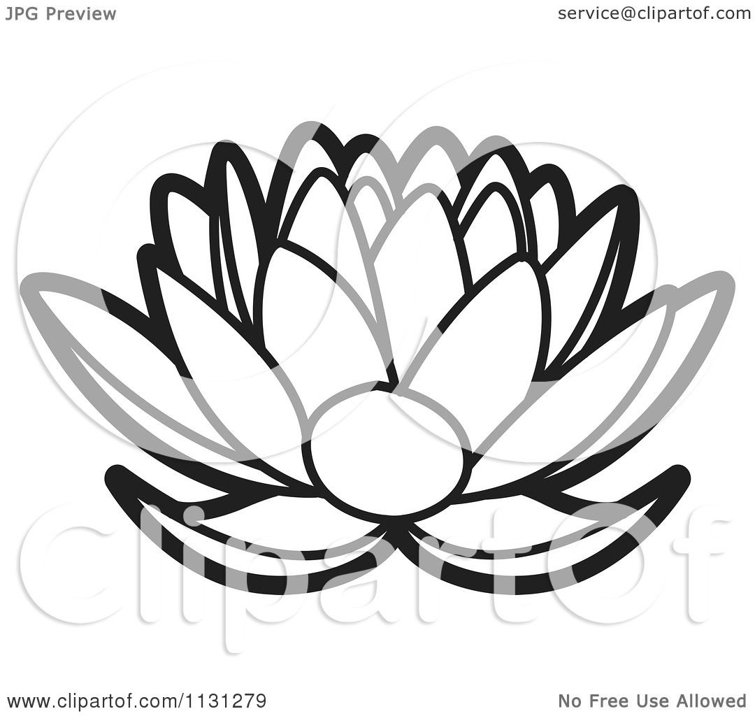 Clipart of an outlined lotus flower royalty free vector clipart of an outlined lotus flower royalty free vector illustration by lal perera izmirmasajfo Images