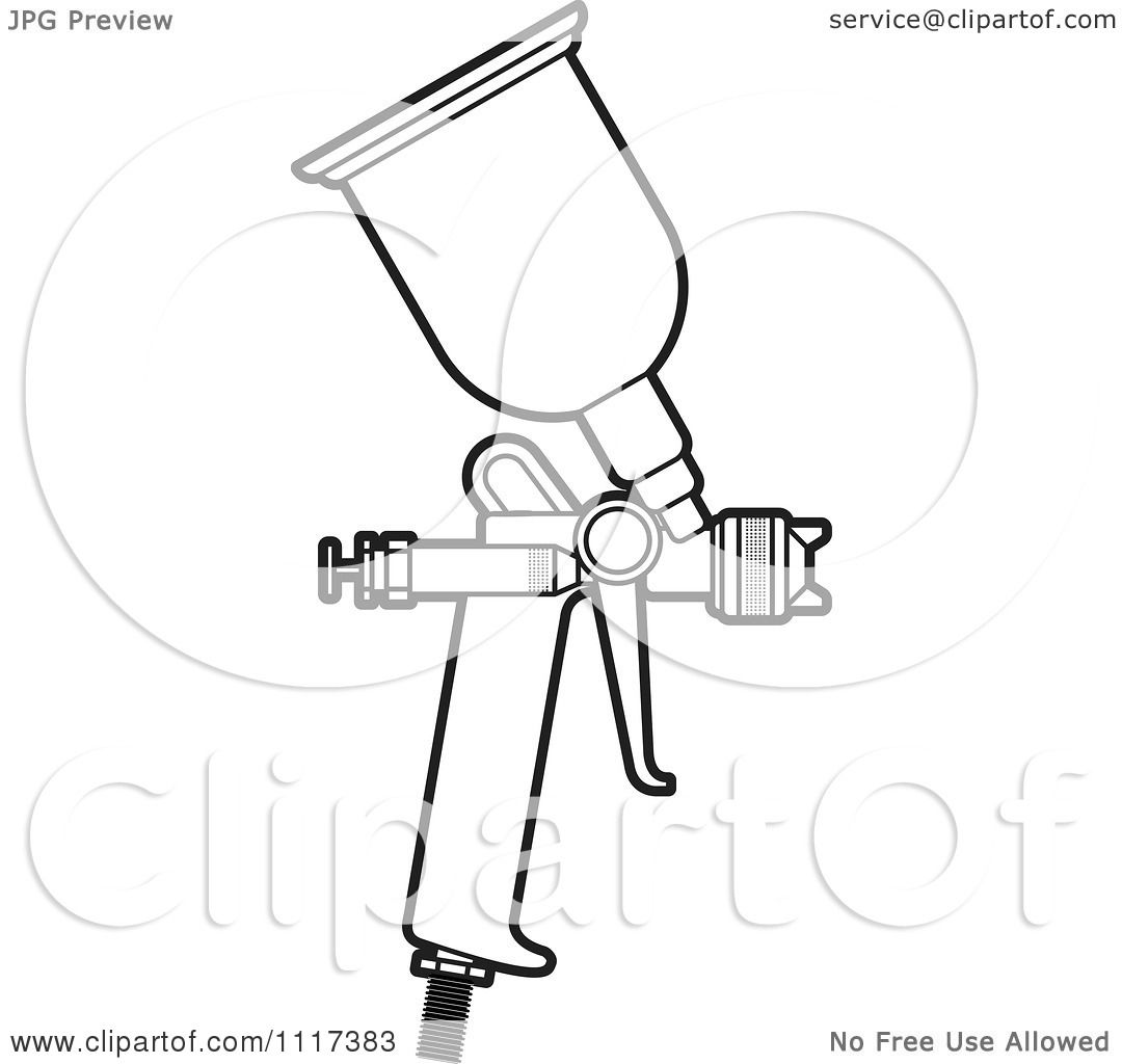 Spray Gun Drawing Spray Painting Gun