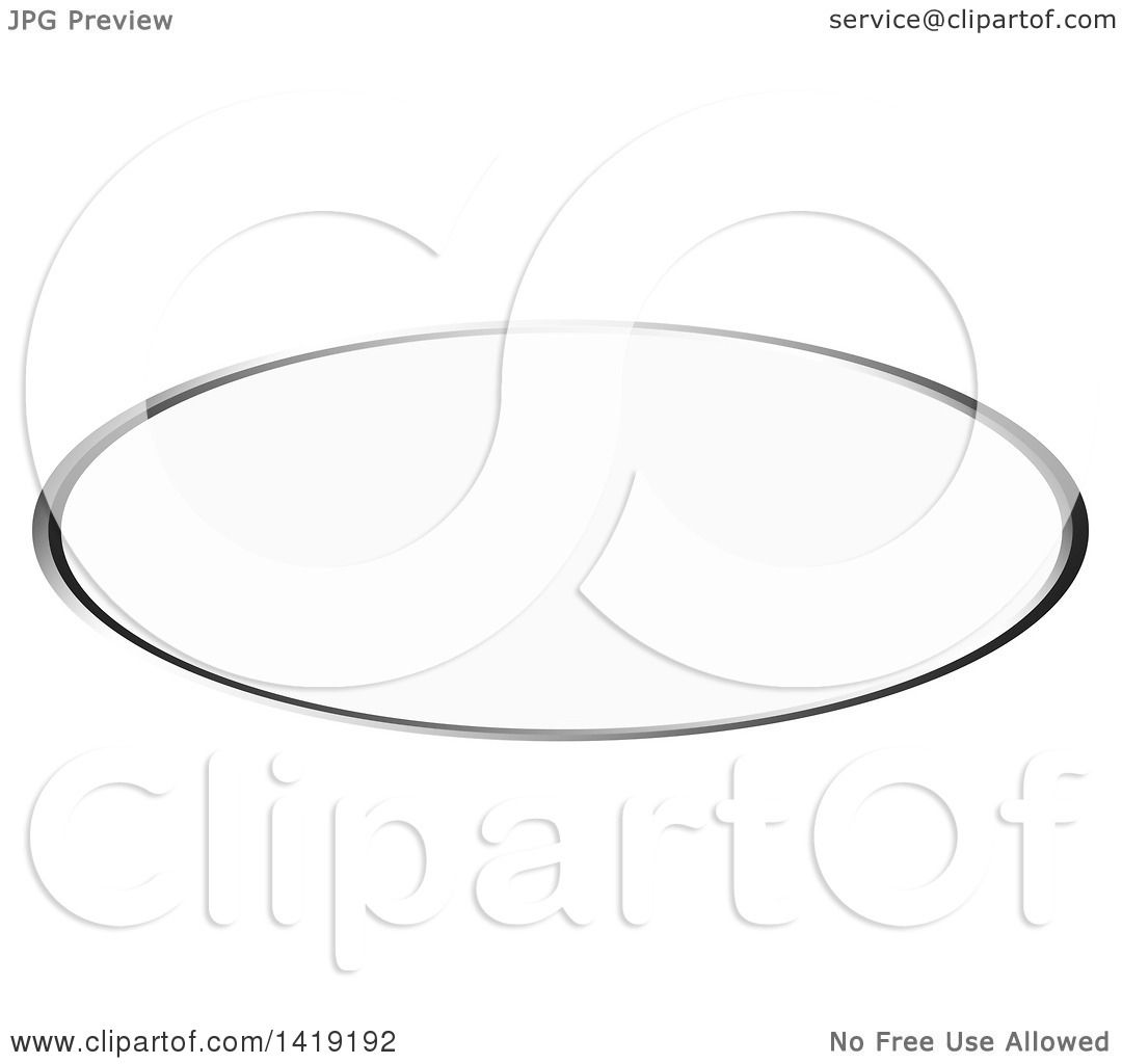 Clipart of an Oval Silver Label Frame - Royalty Free Vector ...