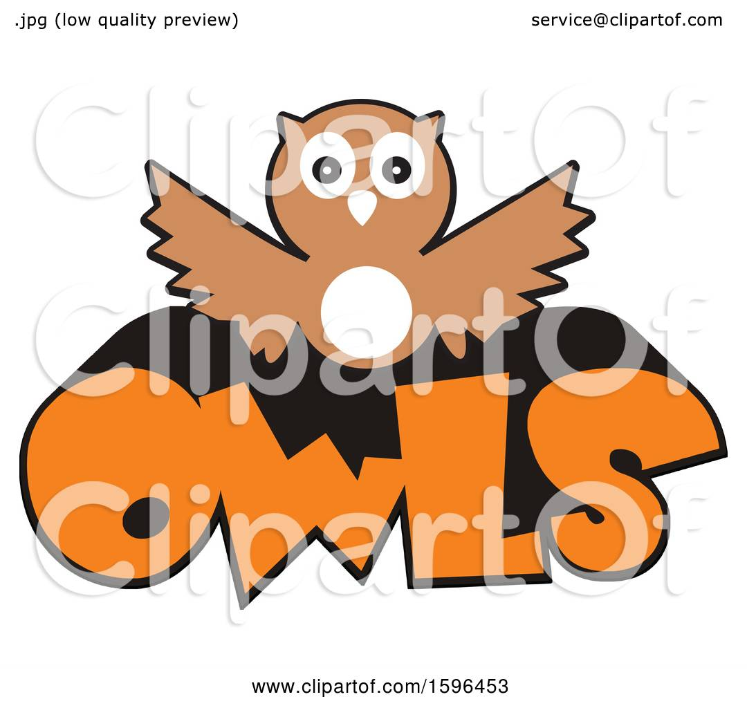 Clipart of an Owl School Mascot over Text - Royalty Free ...