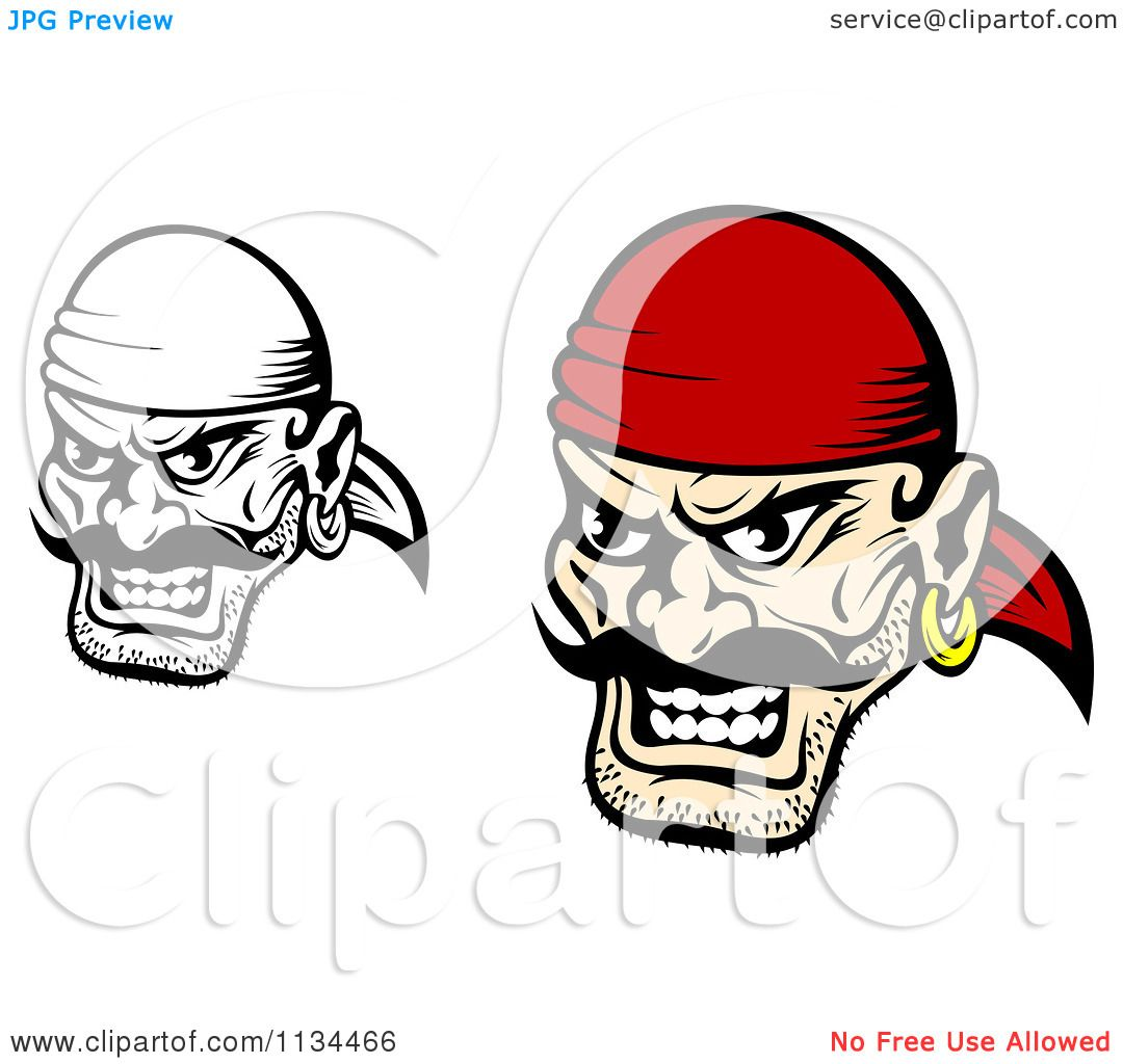 Uncategorized Pirate Faces clipart of angry black and white pirate faces 1 royalty free vector illustration by tradition sm