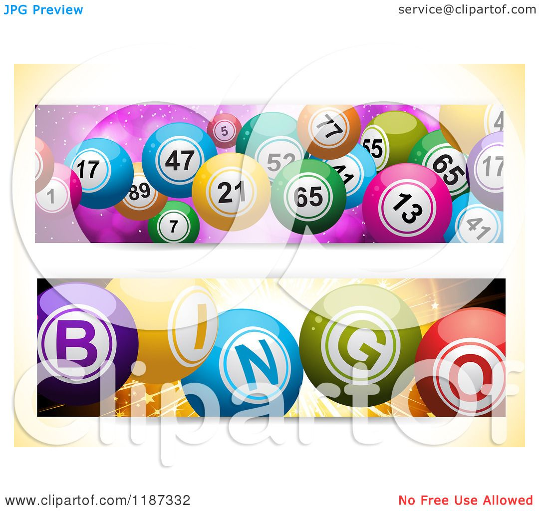Clipart Of Bingo And Lottery Ball Banners Royalty Free