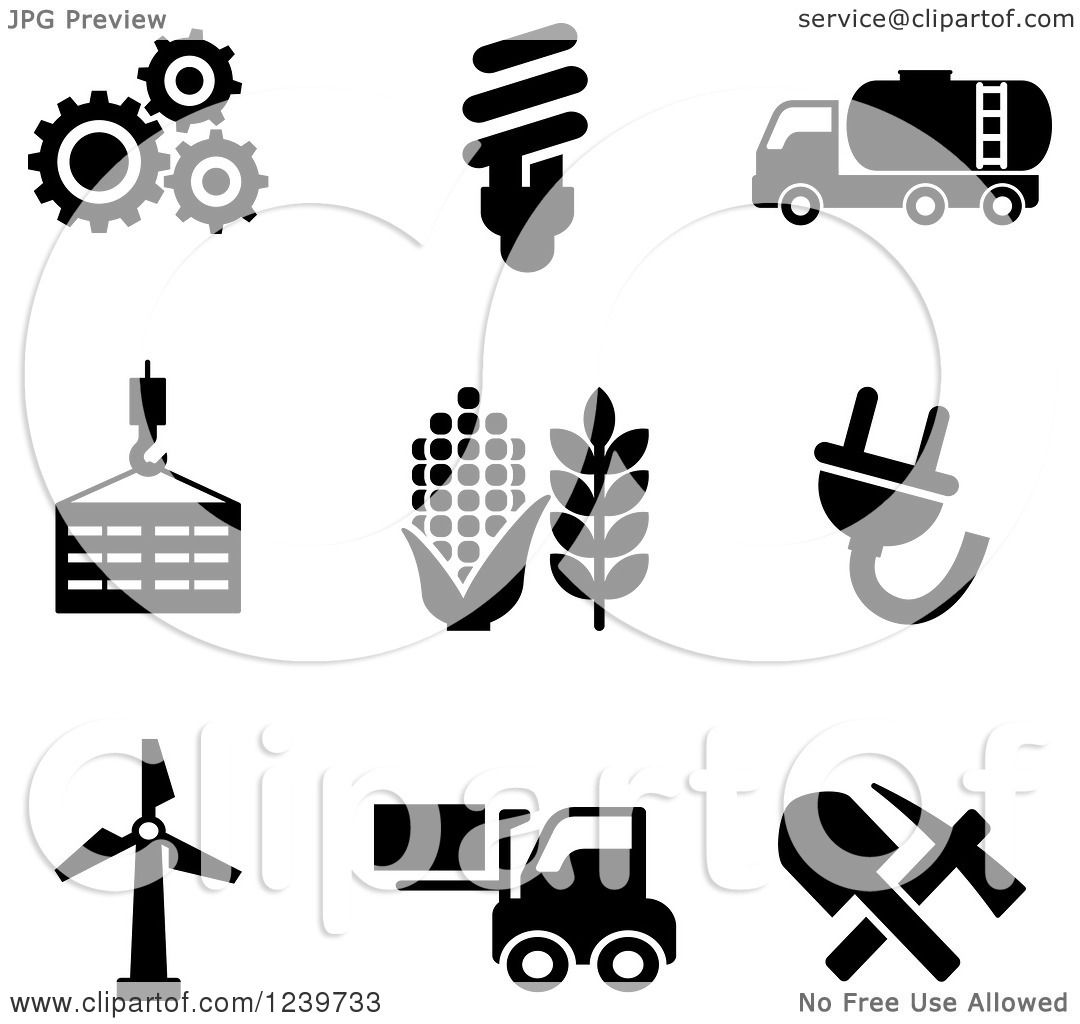 Agriculture Clipart Black And White Clipart of Blac...