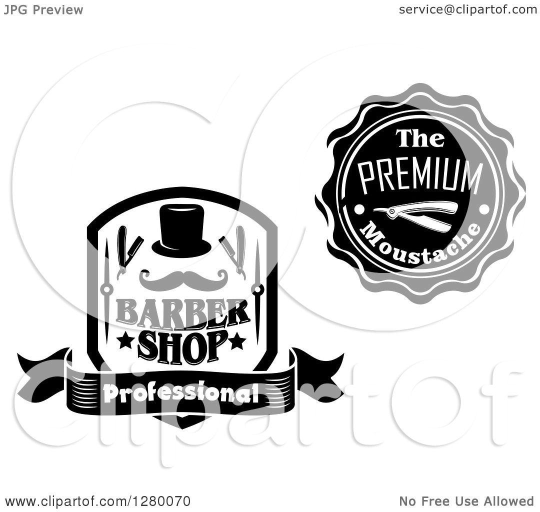 Vector Illustration Web Designs: Clipart Of Black And White Barber Shop Designs