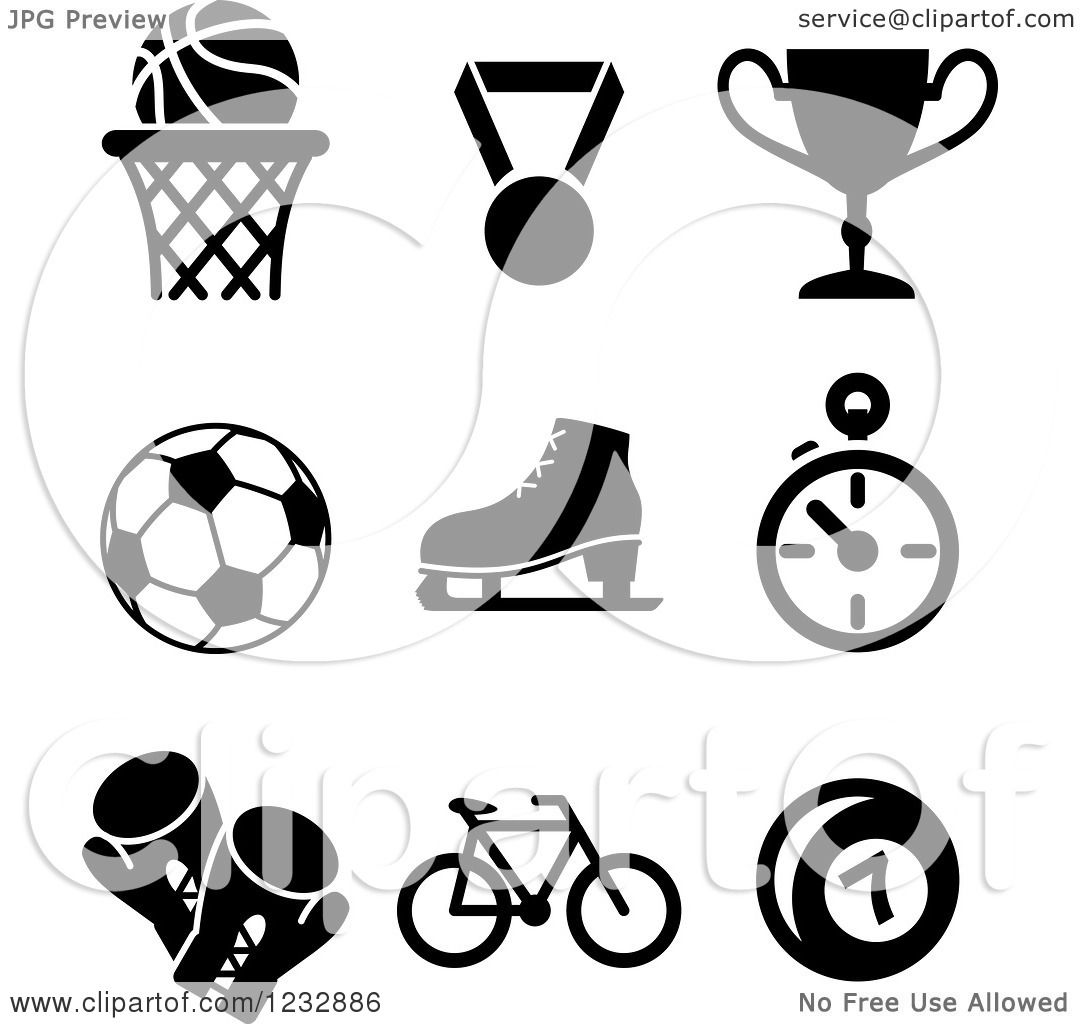 sports basketball icons clipart vector royalty illustration tradition sm graphics seamartini copyright without