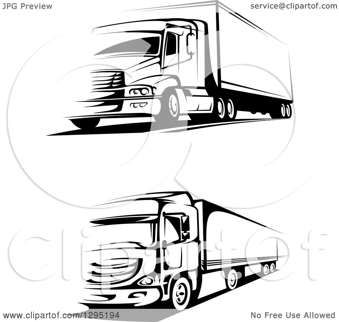 Clipart of Black and White Big