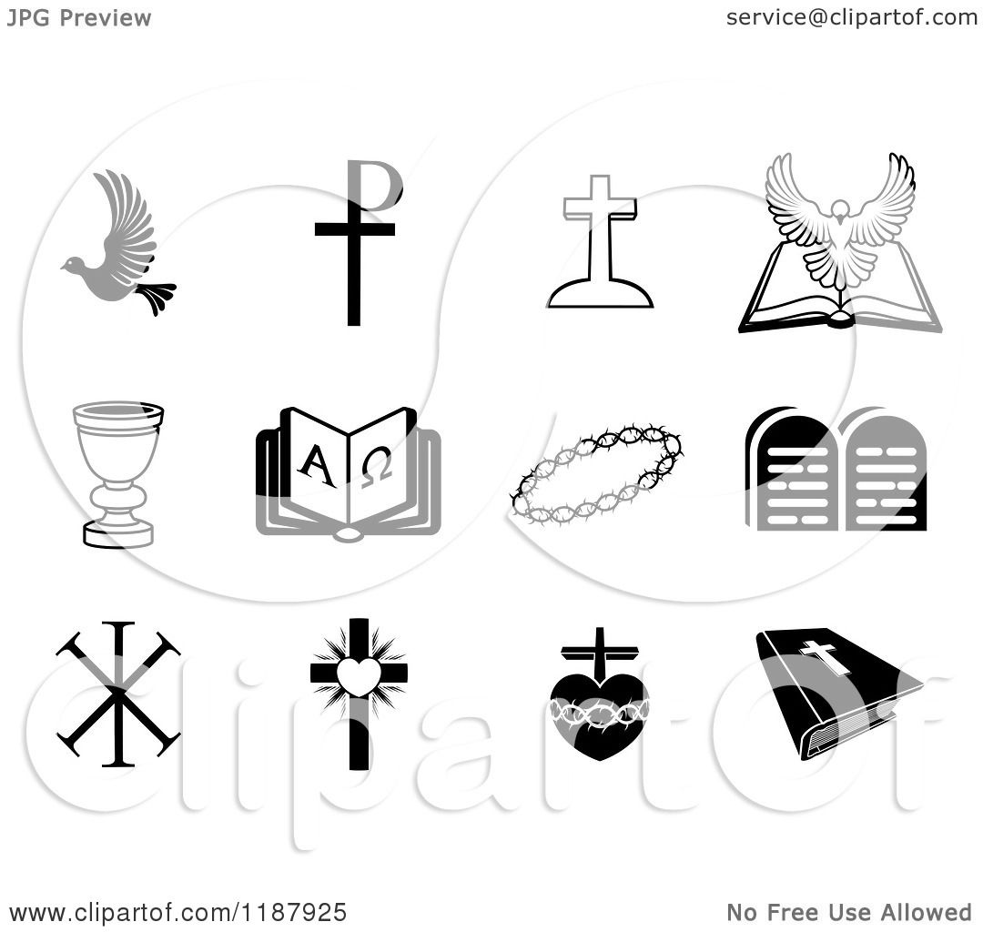 christian clipart free black and white - photo #45