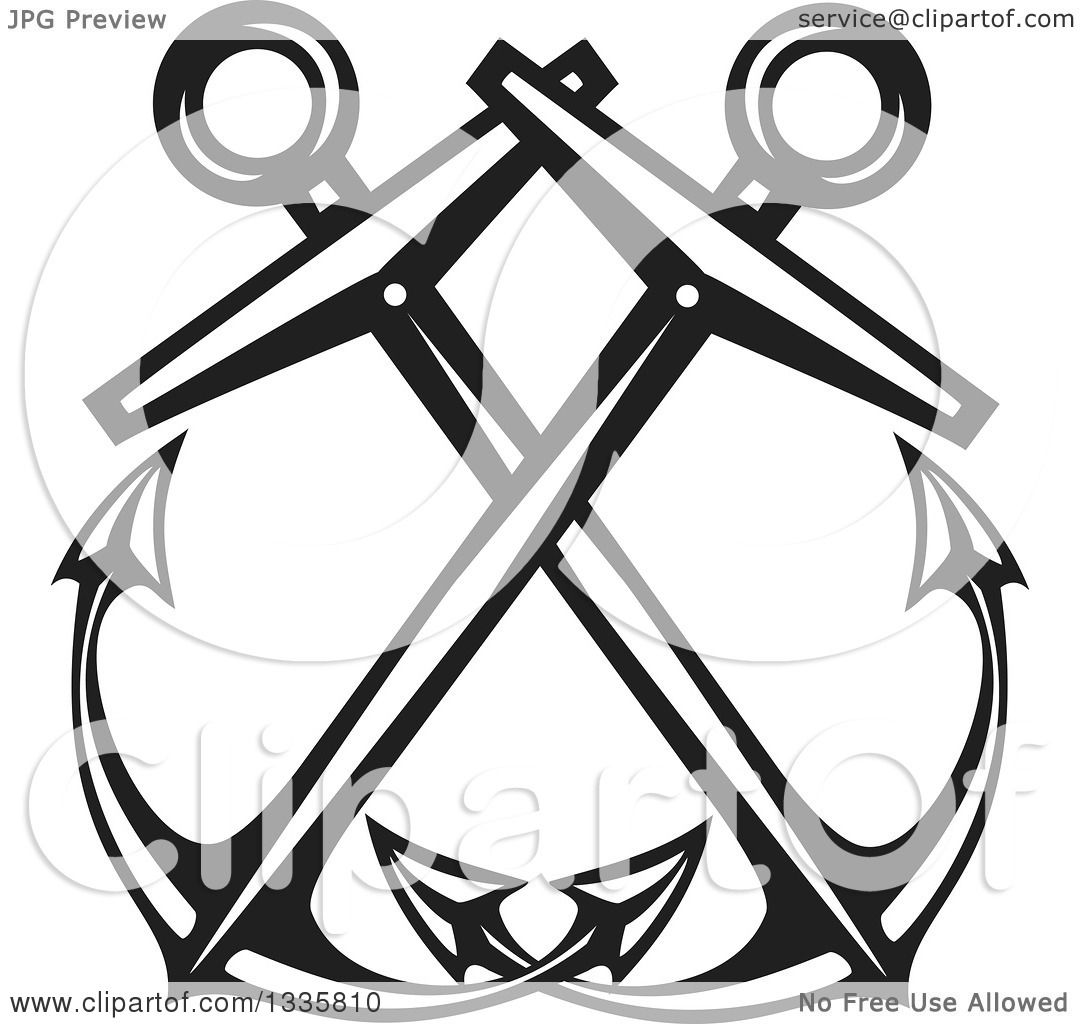 Nautical Clipart Black And White Clipart of Black and W...