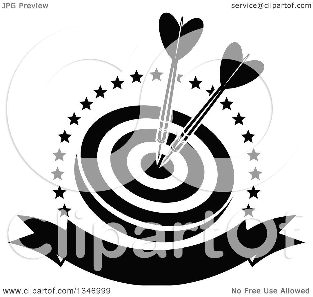 Black And White Darts Clip Art - Dart Fener Transparent PNG