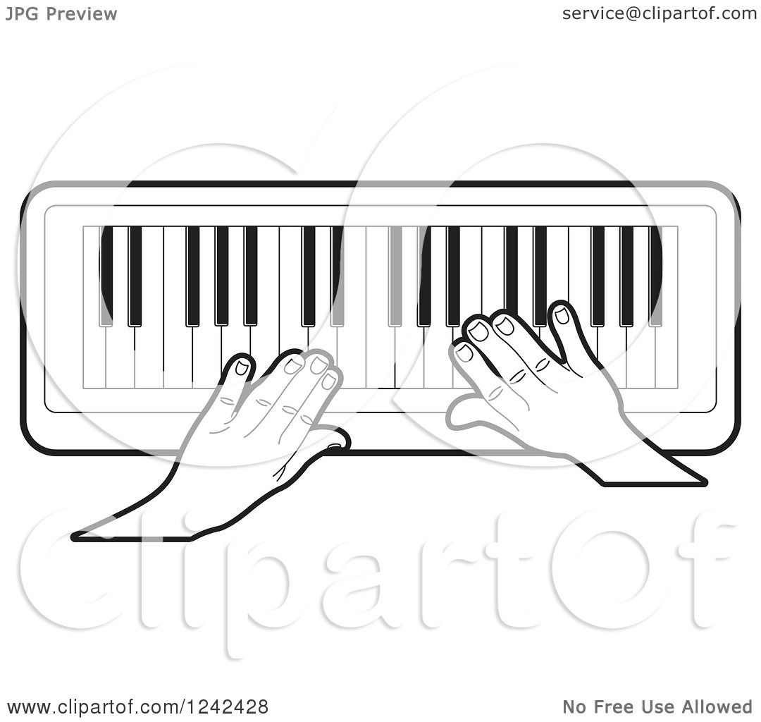 Organ Piano Drawing a Keyboard Piano Organ