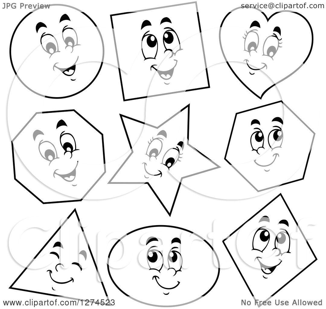 clipart of black and white happy shapes royalty free vector illustration by visekart 1274523. Black Bedroom Furniture Sets. Home Design Ideas