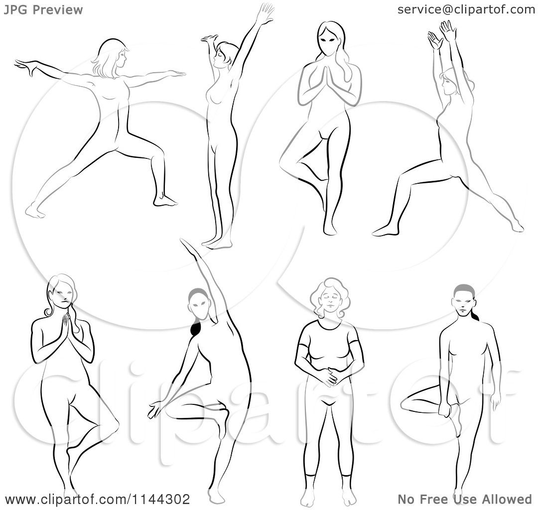 Line Drawing Of Woman : Clipart of black and white line drawings women