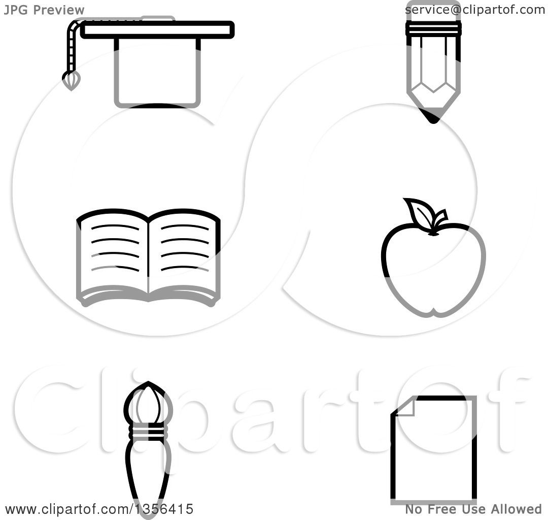 free education clipart black and white - photo #28