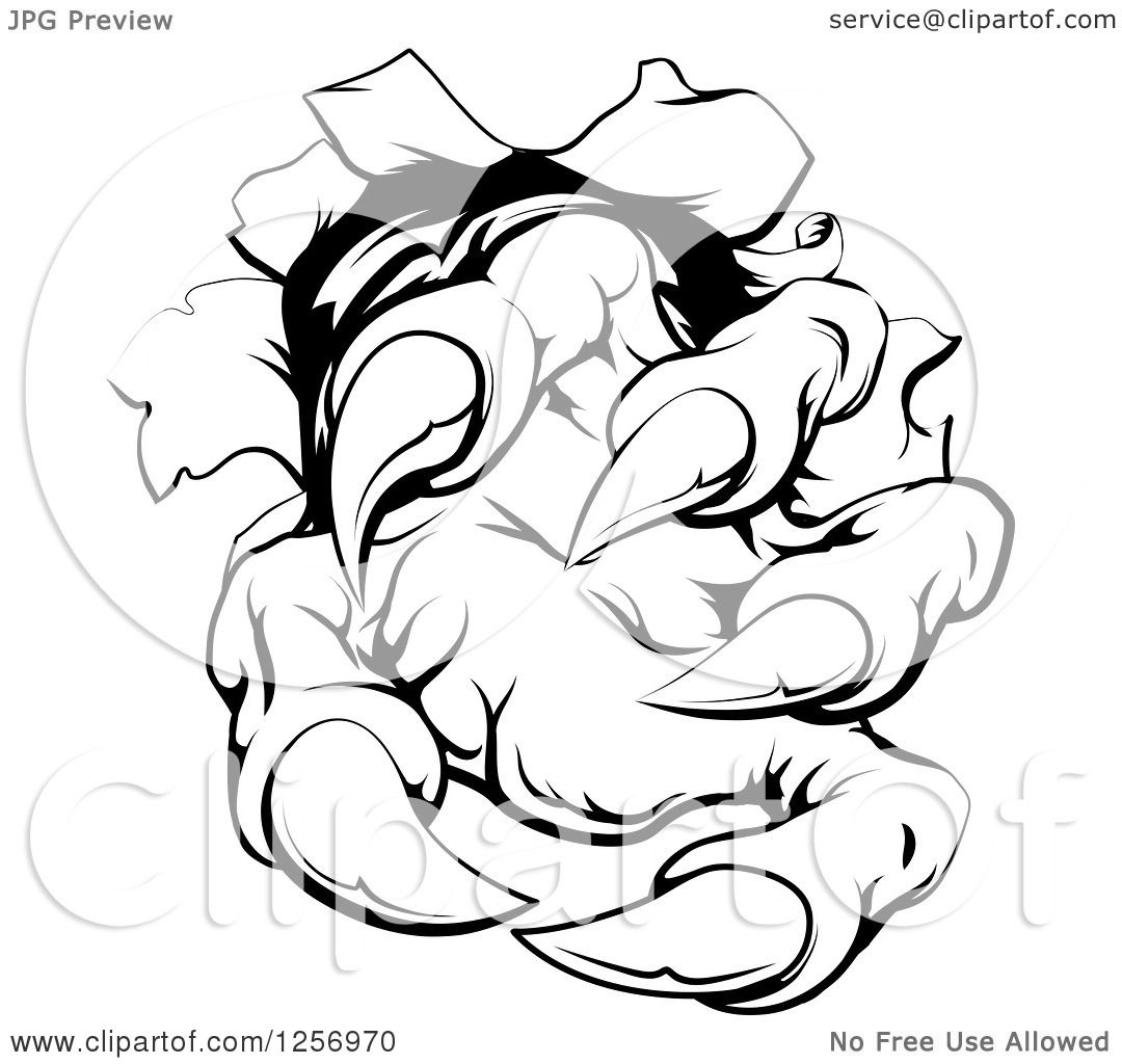 Similiar Claw Ripping Through Clip Art Keywords