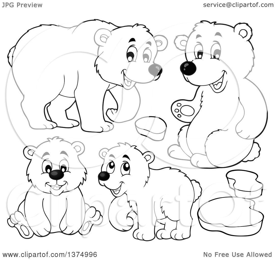 Free Polar Bear Black And White Clipart, Download Free Clip Art, Free Clip  Art on Clipart Library