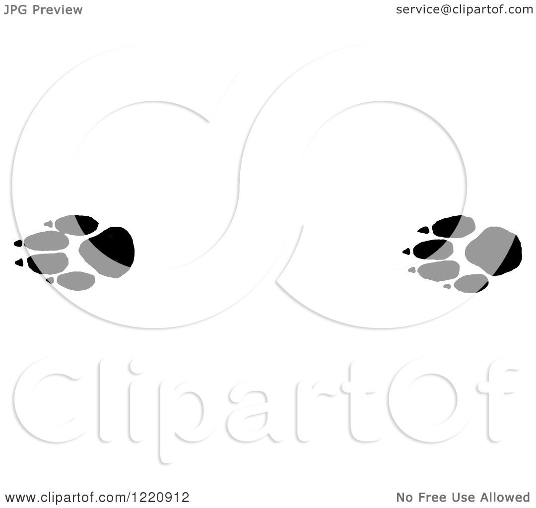 Clipart of Black and White Prairie