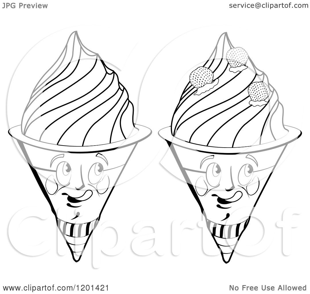 waffle cone coloring page