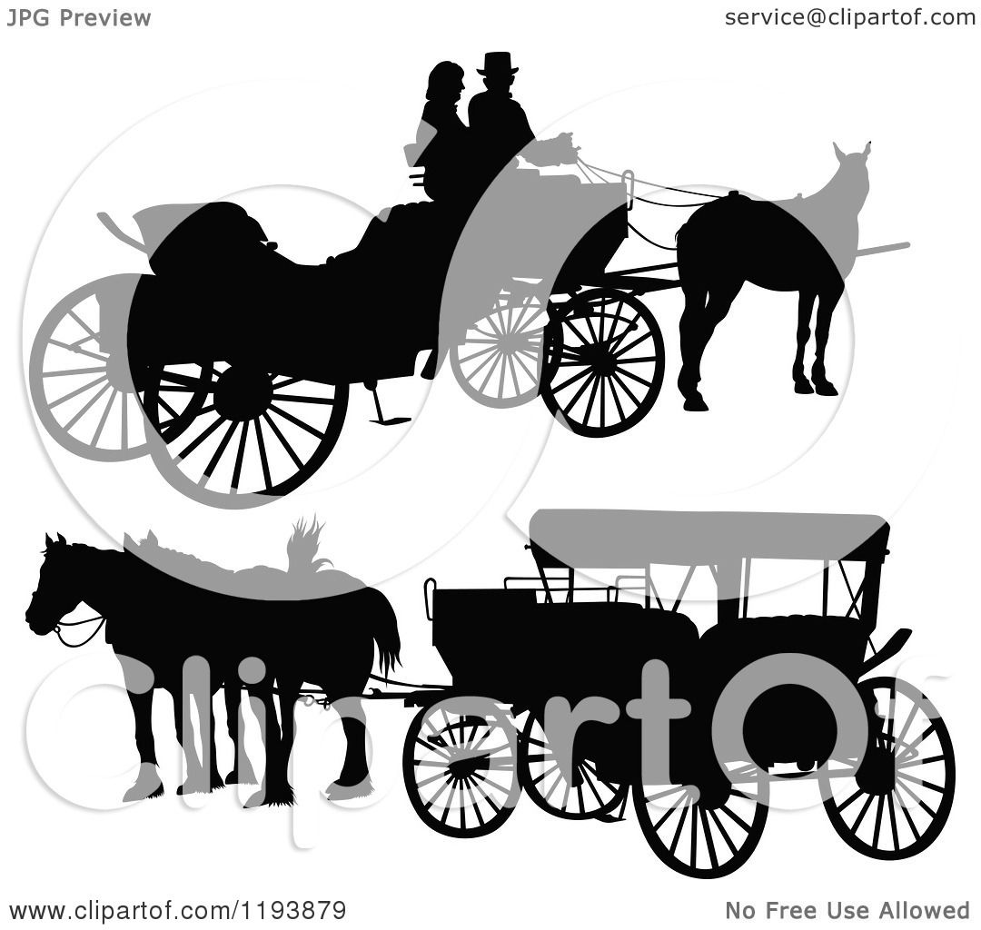 Horse Drawn Carriage Silhouette Horse Drawn Carriages