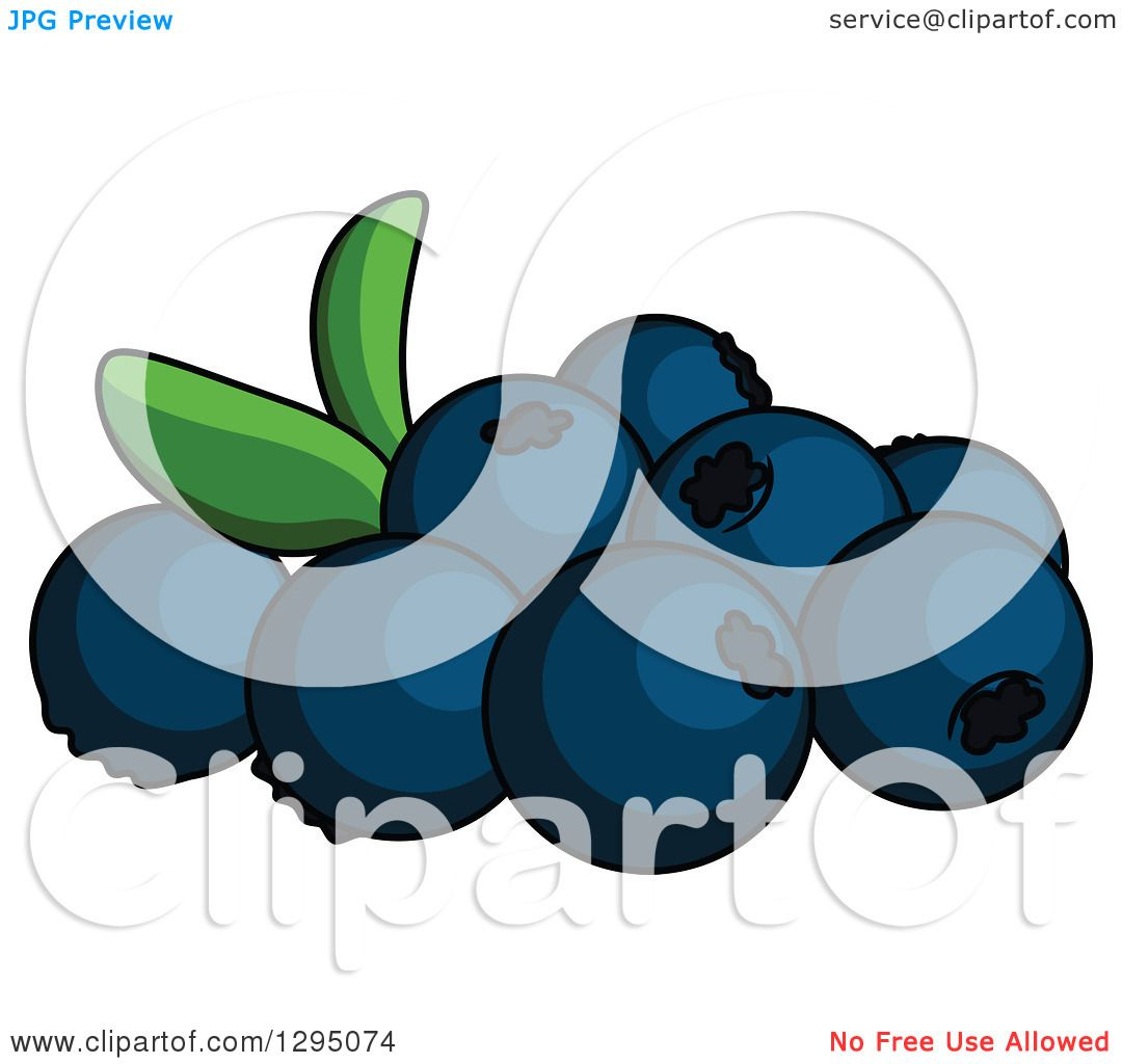 Clipart of Cartoon Blueberries - Royalty Free Vector Illustration ...