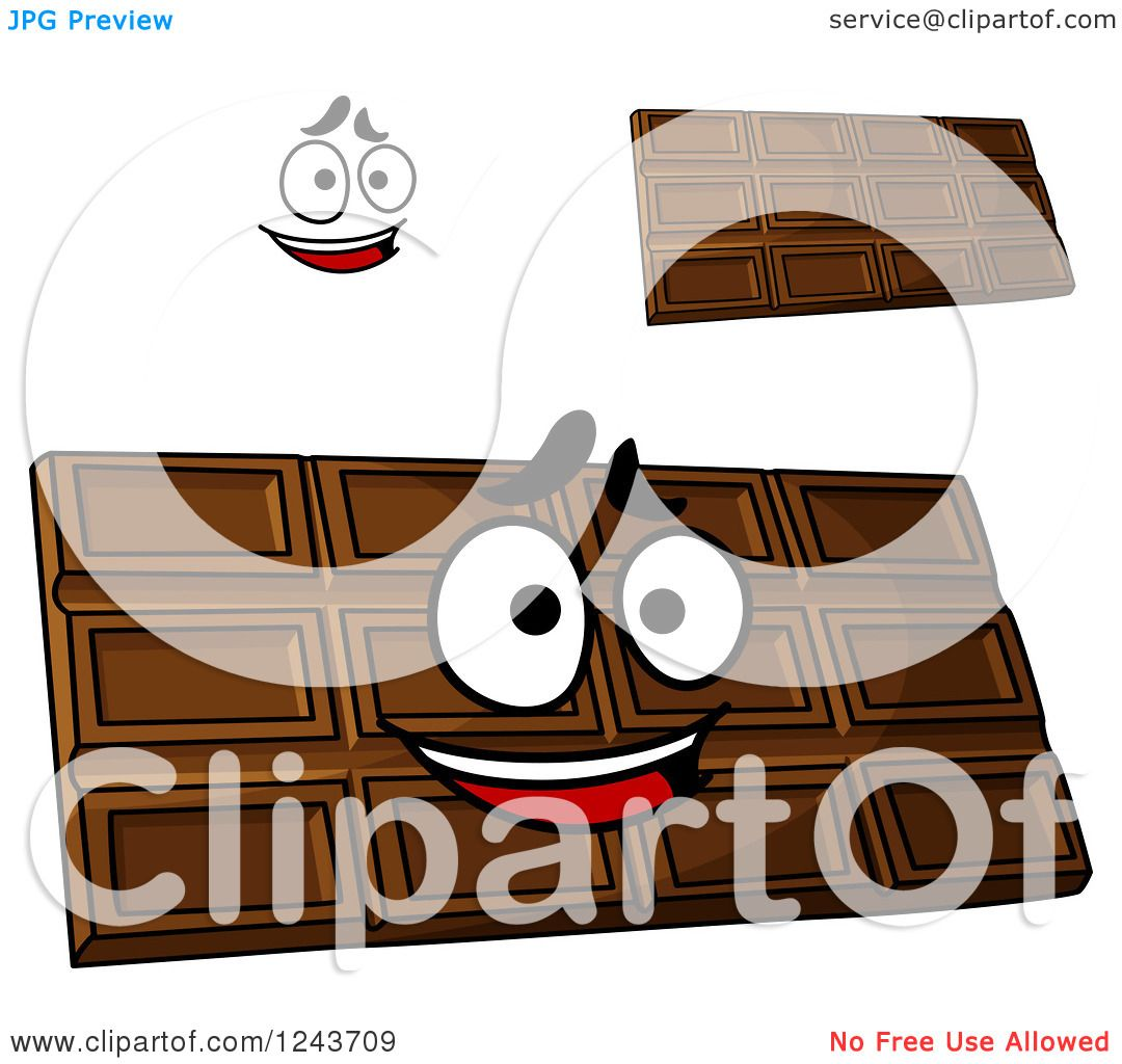 Clipart of Cartoon Chocolate Candy Bars - Royalty Free Vector ...