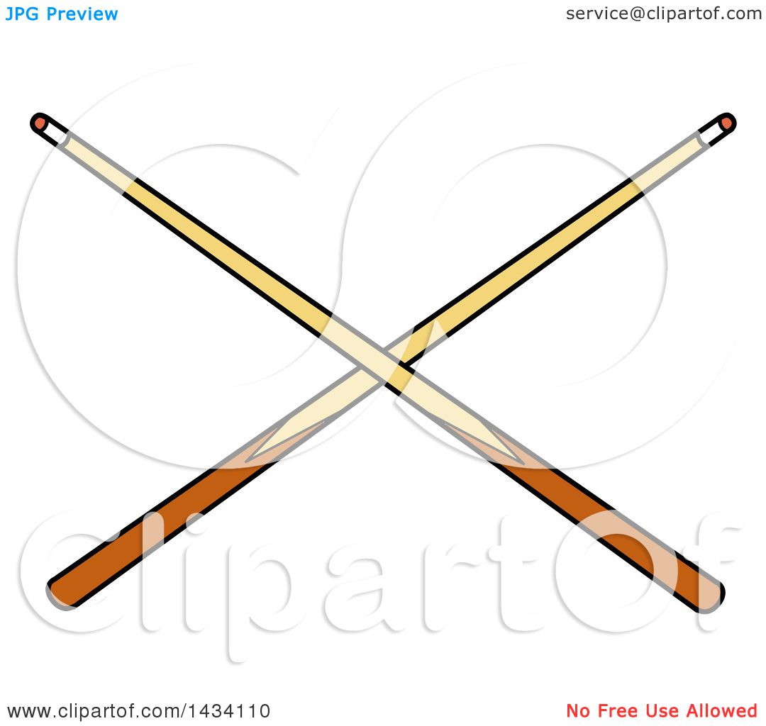 Crossed Pool Sticks Clip Art The Hippest Pics