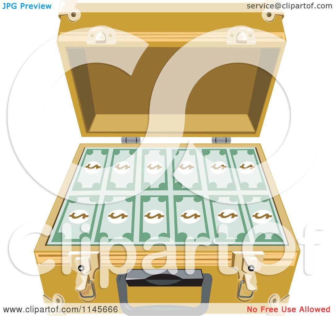 Open Briefcase Vector Open Briefcase Royalty
