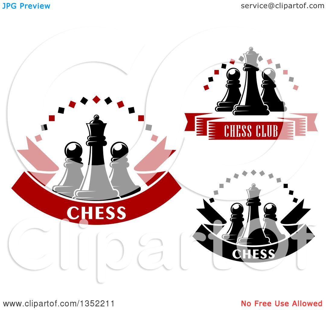 Clipart of Chess Queen and Pawn Pieces, Diamond Arch, and ...