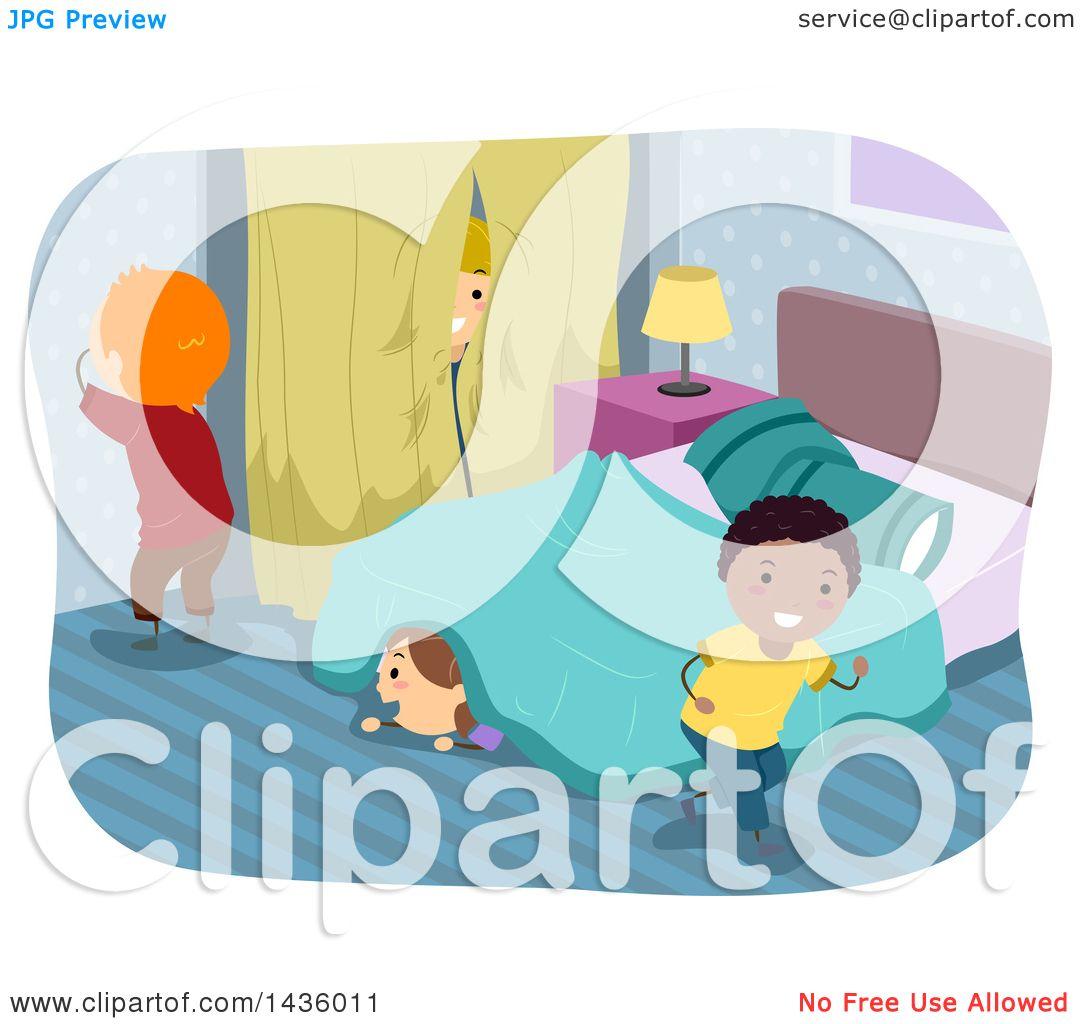 Hide Seek Kids: Clipart Of Children Playing Hide And Go Seek