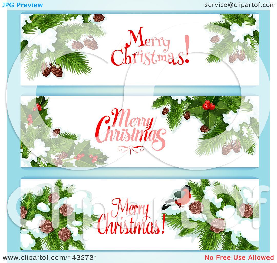 Clipart of Christmas Website Banner Headers - Royalty Free Vector ...