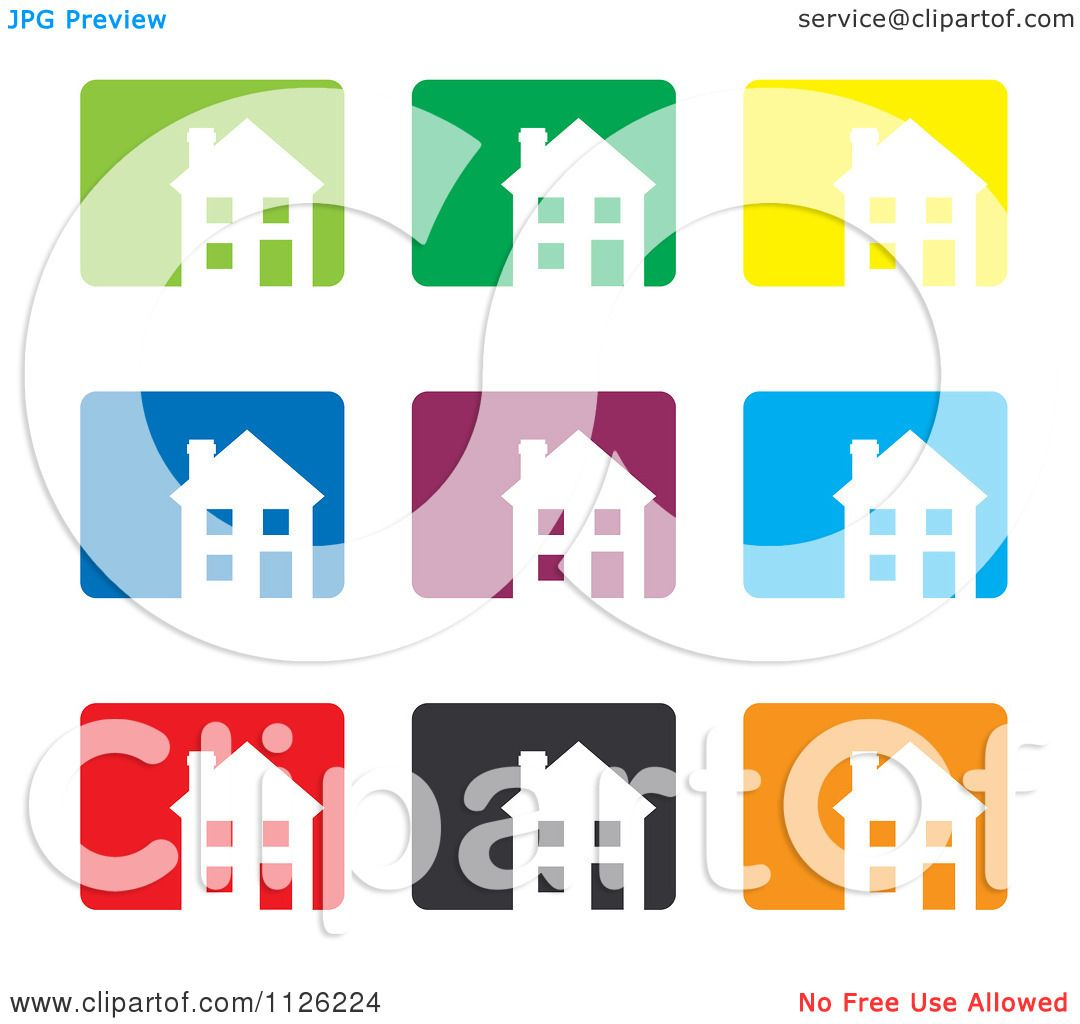 House Icon Vector House icons - royalty free