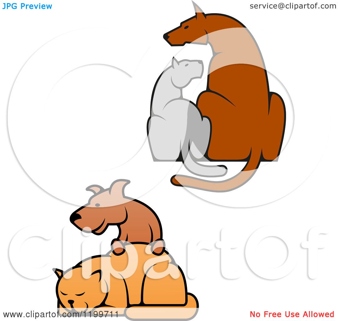 free clipart of dog and cat together - photo #48