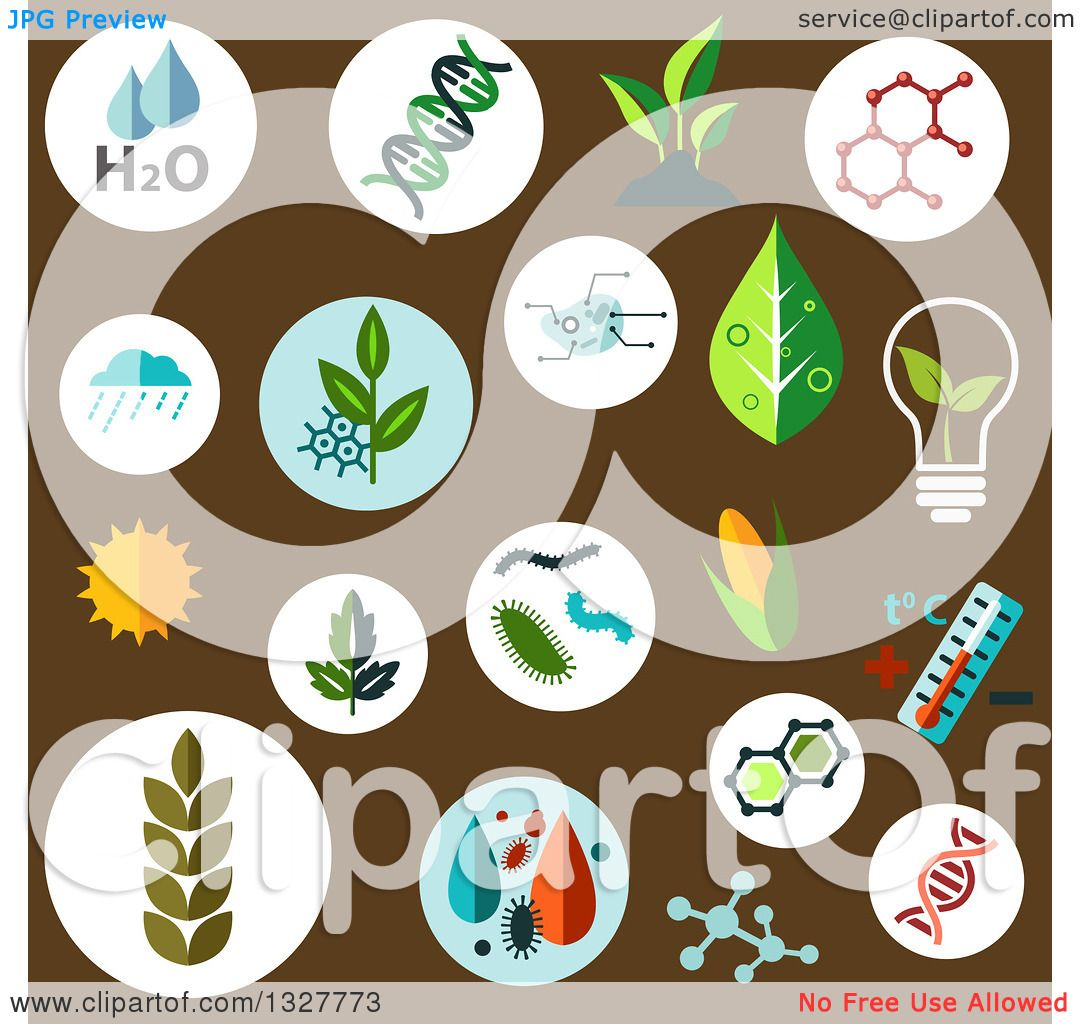 Clipart of Flat Design Agricultural Crops, Chemical ...