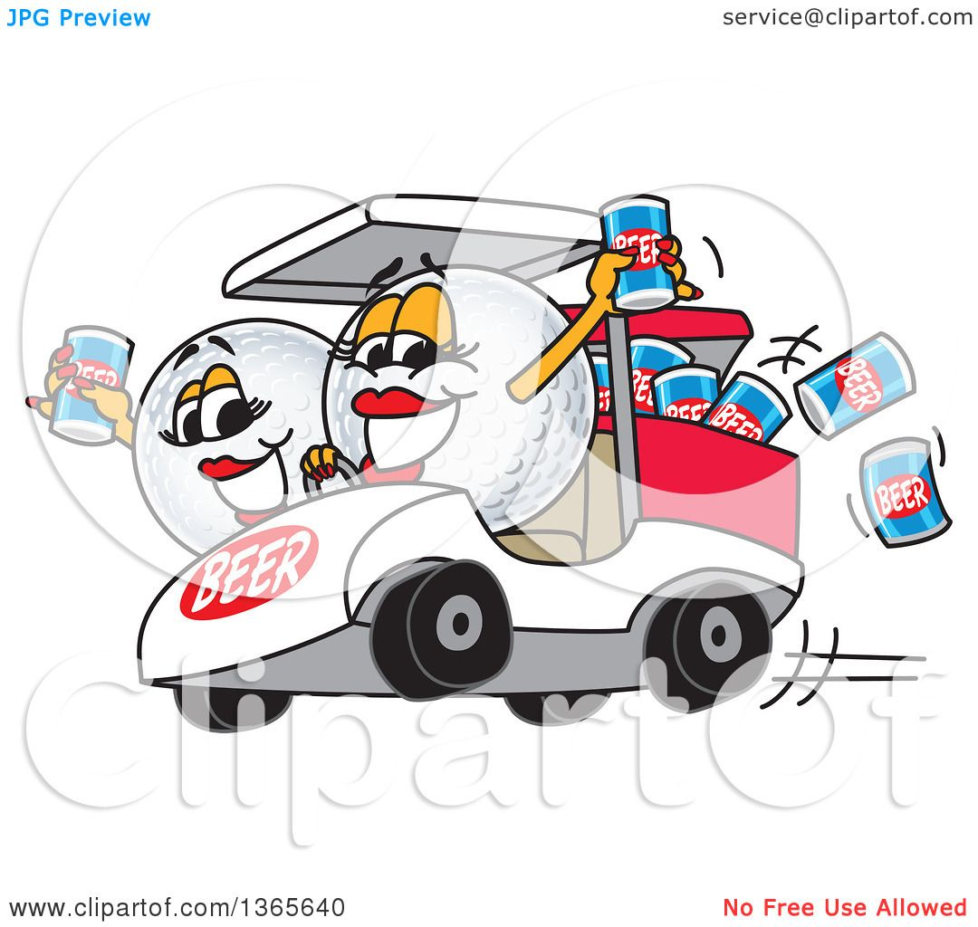 Clipart of Golf Ball Sports Mascot with Beer Cans in a Cart ... on url clipart, doc clipart, sql clipart,