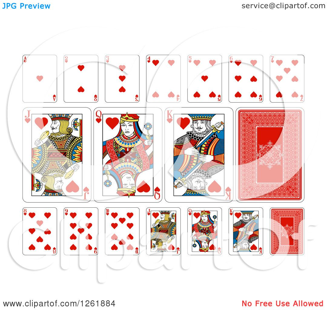 Playing Cards Hearts Clipart of Hearts Suit Playing
