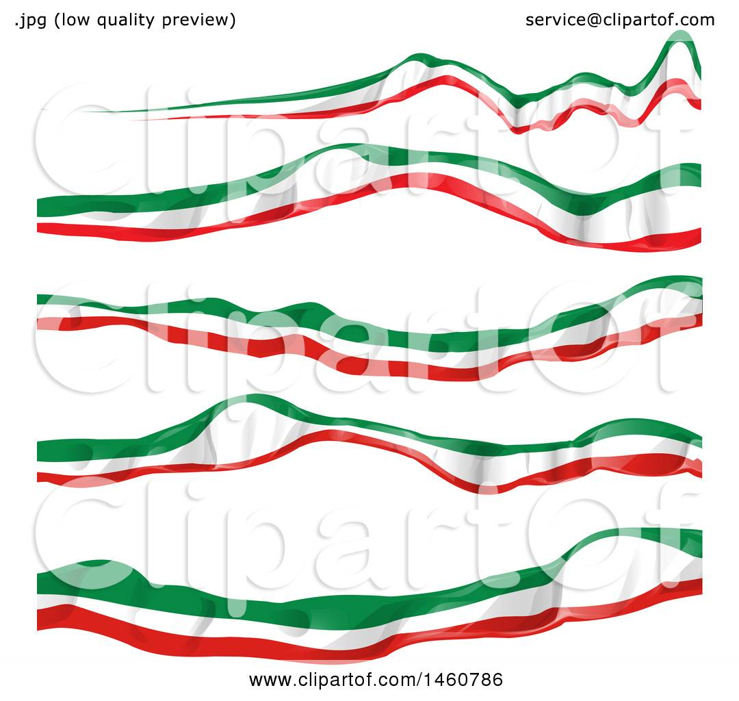 clipart of italian flag banners royalty free vector illustration rh clipartof com