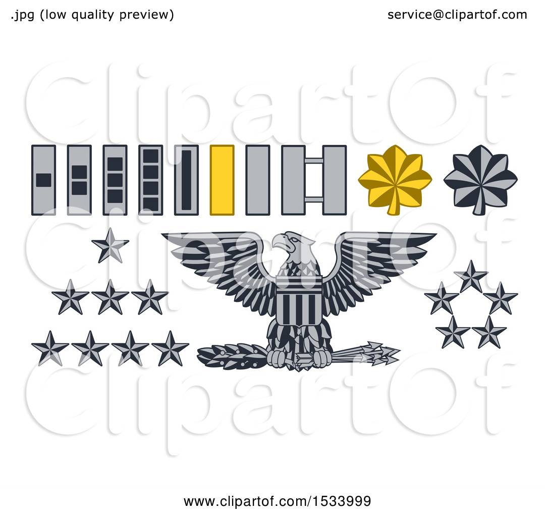 Clipart of Military American Army Officer Rank Badges ...
