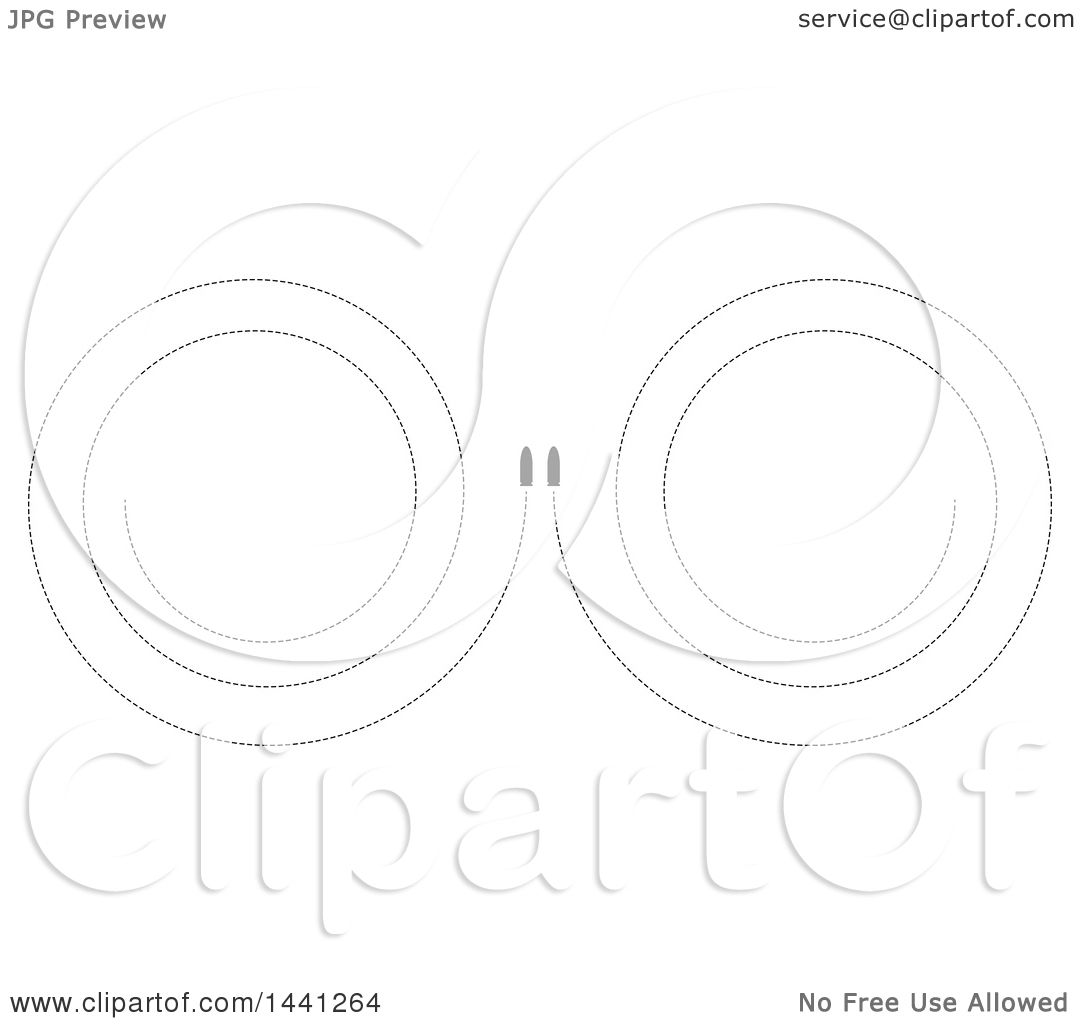 Clipart of Mirrored Bullets with Dotted Paths - Royalty Free ...