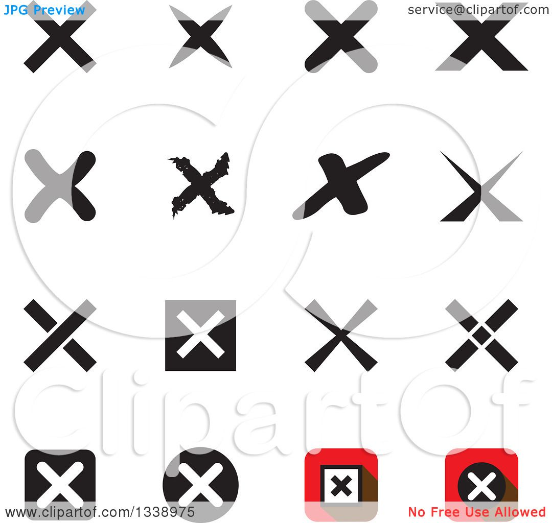 Clipart of negation rejection or no x mark app icon design clipart of negation rejection or no x mark app icon design elements royalty free vector illustration by colormagic buycottarizona
