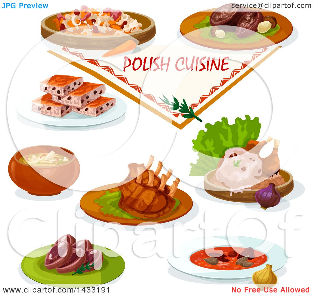 Clipart of Polish Cuisine, with Text - Royalty Free Vector ...