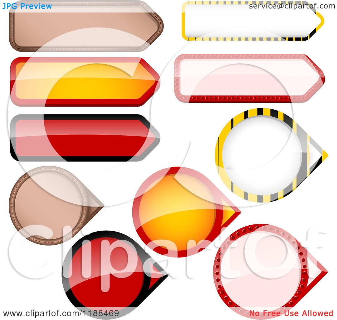 Clipart of Reflective Round and Rectangular Price Tag Design