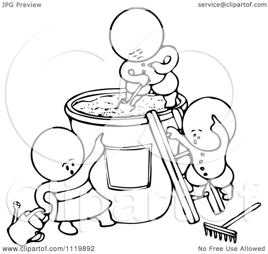 Clipart Of Retro Vintage Black And White Goops Kids ...