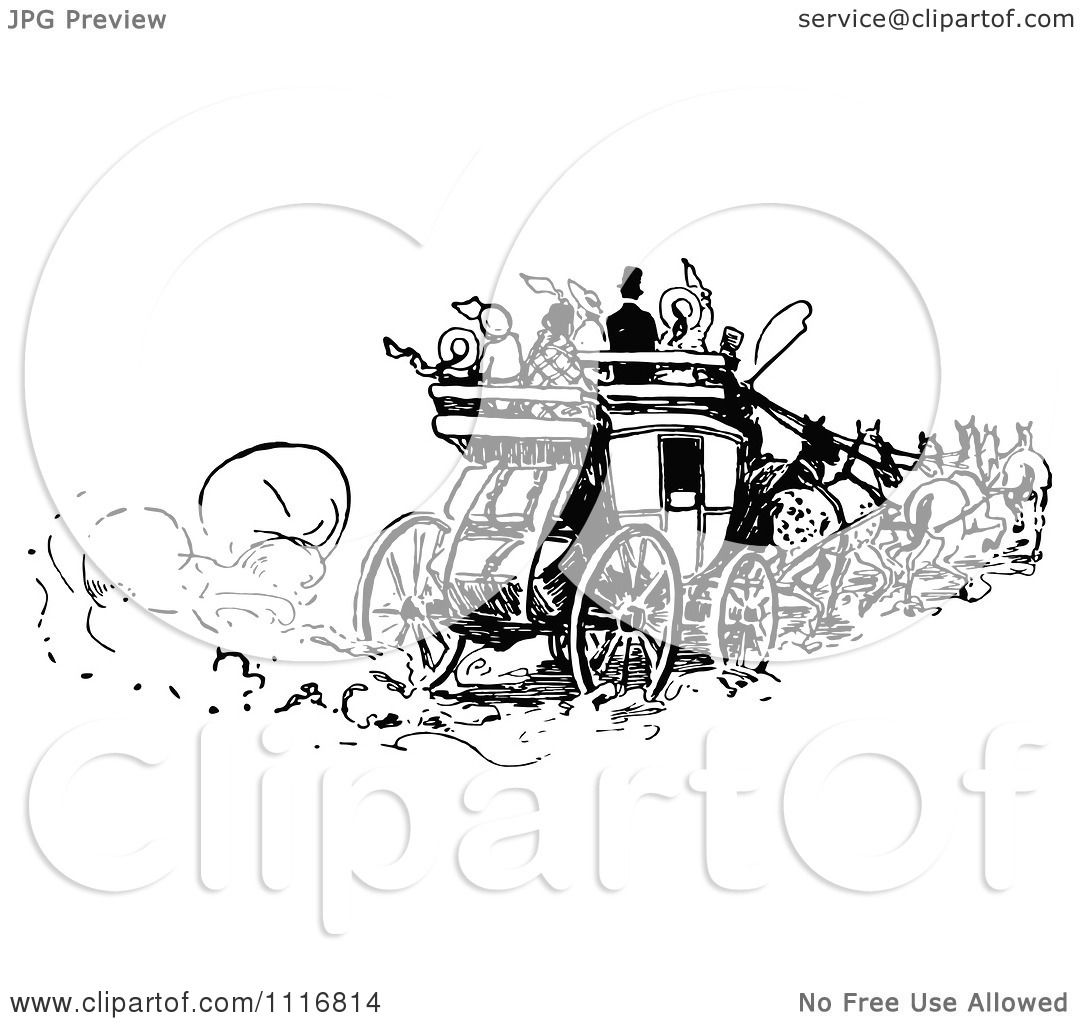 Horse Drawn Carriage Clipart on a Horse Drawn Carriage